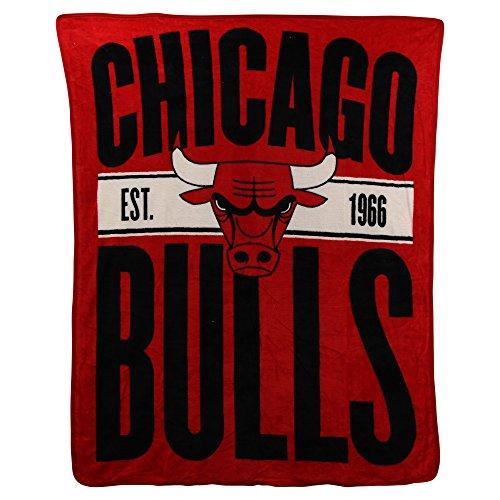 NBA Clear Out Super Soft Plush Throw Blanket (Chicago Bulls)