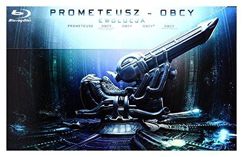 Prometheus to Alien - The Evolution Collection: Prometheus / Alien / Aliens / Alien 3 / Alien: Resurrection + Extras (BOX) [9Blu-Ray] [Region Free] (English audio. English subtitles)