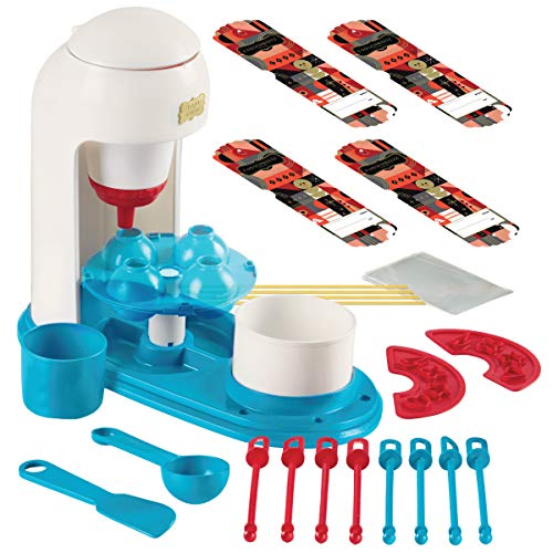 - FAO SCHWARZ Kids No-Bake Vanilla Cake Pop Maker Complete DIY Kit, Includes Batter Piping Machine, Mold, 8 Sticks, Spoon, Spatula, Sprinkles Stencils, Mini Mixing Bowls, and Cake Mix & Sprinkles