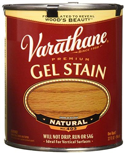 Varathane 224453H Premium Gel Stain, Quart, Natural -