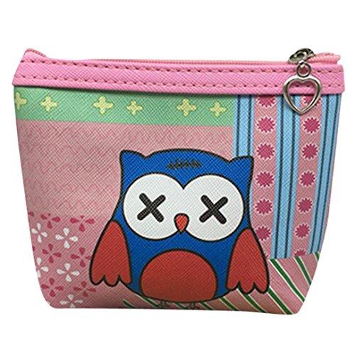 Womail Women Cute Mini Owl Zipper Handbags Girl ID Credit Card Coin Holder Wallet