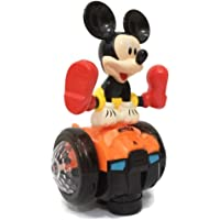 Funbee Musical Toys for Infants Kids Babies Spinning Mickey Mouse with Music and 4D Light Toy Bump and Go Type Toys for Kids