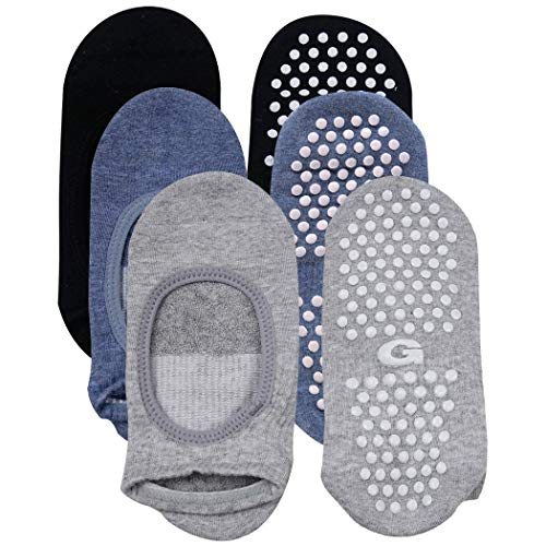 (Non Slip Skid Socks, Gmark Women's Best Yoga Socks Pilates Barre Grip Sox Gift for Prime Independence Day 3 Pairs Small)