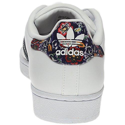 Adidas Kvinders Superstjerne FunDamet Afslappet Sneaker Hvid / St Mørk Skifer / Hvid ZKtjhpgx