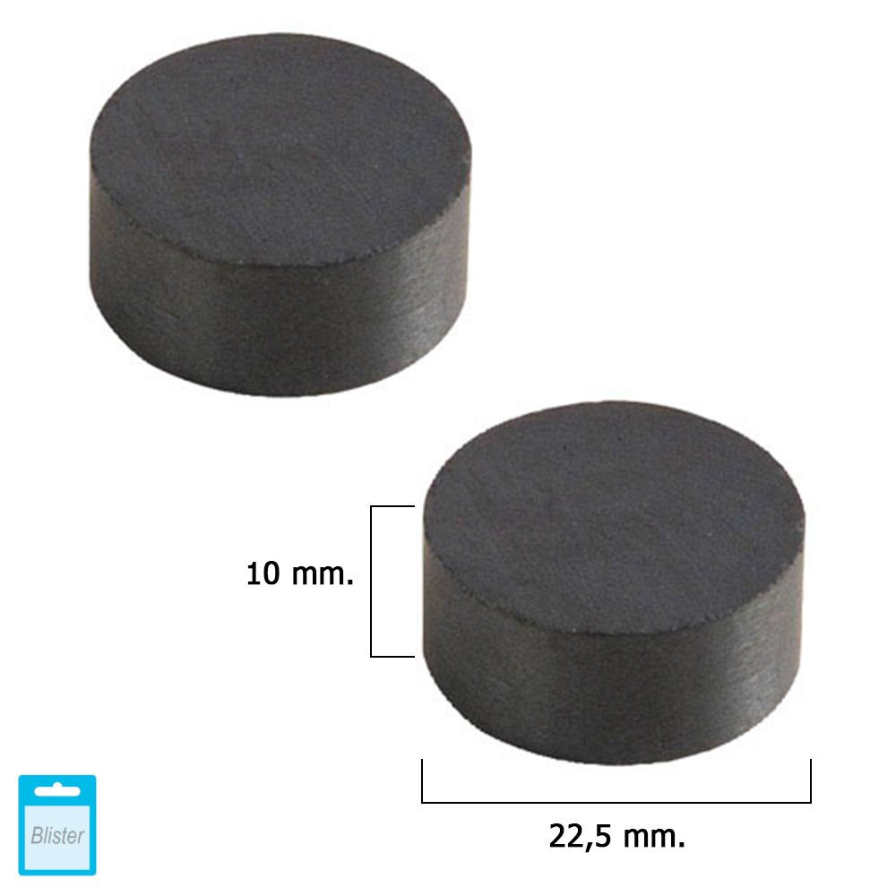 Wolfpack 5411120 Aimant Wolfpack Ferrite Rond 22,5 X 10 mm Lot de 2 Pièces ()
