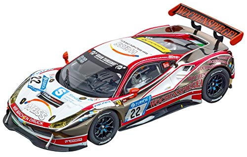 Carrera 27591 Ferrari 488 GT3 WTM Racing #22 Evolution Analog Slot Car Racing Vehicle 1:32 Scale