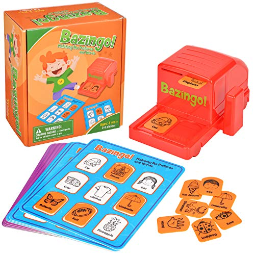 Amagoing Bazingo Bingo Sight Words Board Game, Reading Matching Educational Toys for Kindergarten and Early Readers with 8 Board Cards
