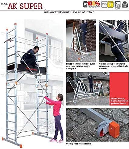 ANDAMIO AK SUPER(7+7peldaños). FARAONE. LCS: Amazon.es: Bricolaje ...