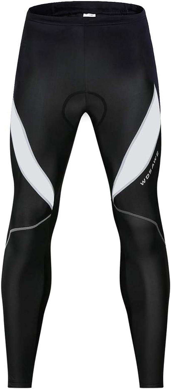 Uomo Calze Salopette da Ciclismo Imbottita Termico Pantaloni Lunghi MTB