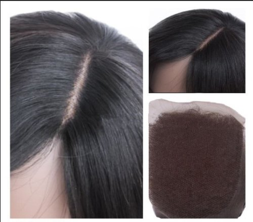"""High Quanlity Mid-Part 5x5 Lace Front Top Closure 14"""" Chinese Virgin Remy Hair Body Wave colour #1b"""