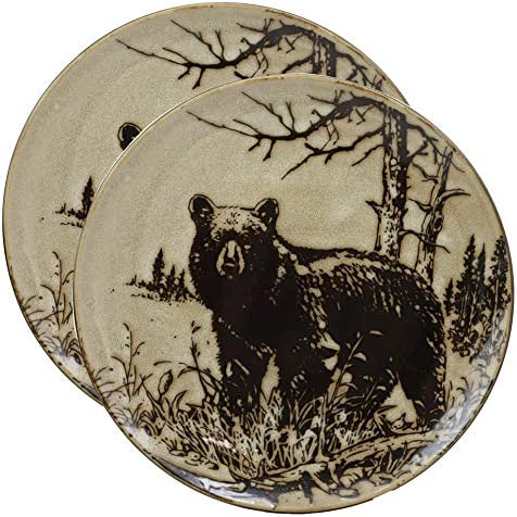Wildlife 8.5 Rectangle Glass Plate Set of 2