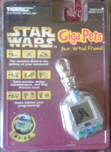 1997 Tigers Electronics, Inc. Star Wars R2-D2 Giga Pets Electronic Virtual Pet - Model Virtual