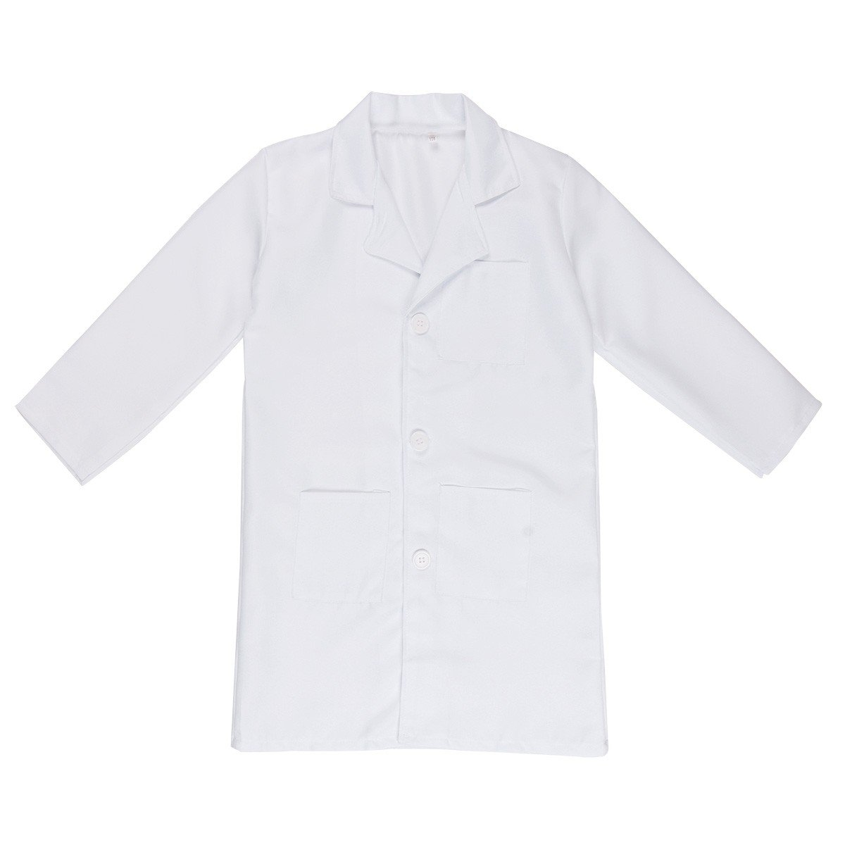 FEESHOW Kids Boy Girl Long Sleeve White Lab Coat Doctor Uniform Outfit Cosplay Costume White 7-8 by EESHOW (Image #1)