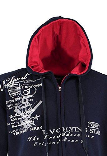 Capuche Lavecchia Éclair Avec Shirt Grandes Bleu Tendance Fermeture Tailles Et Veste Sweat rT6q8wxXT