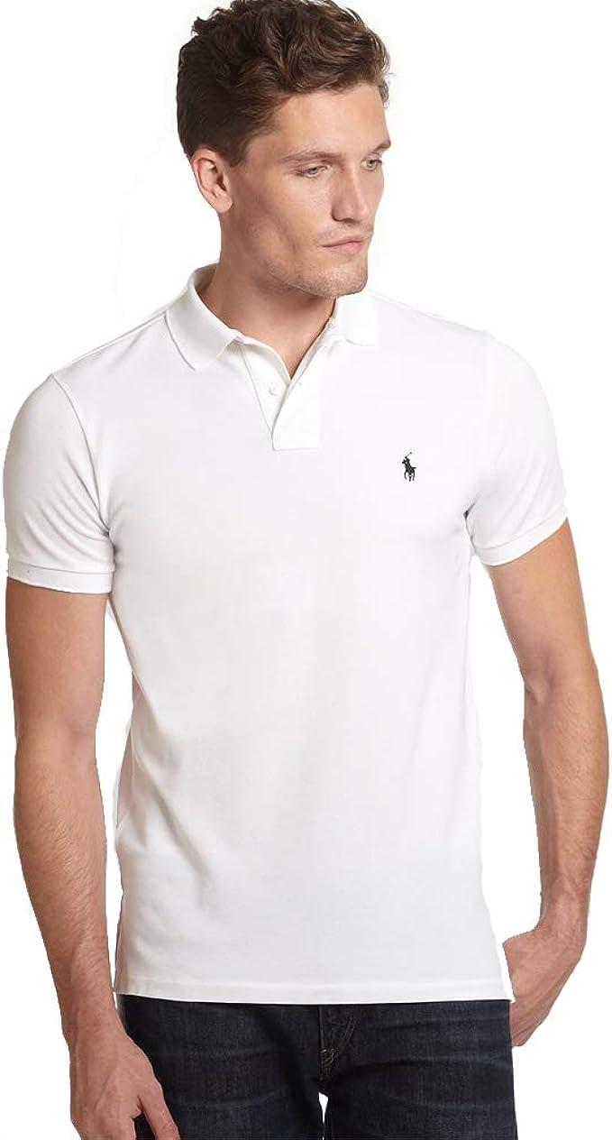 Ralph Lauren Polo Small Pony Custom Fit (XL, White): Amazon.es ...
