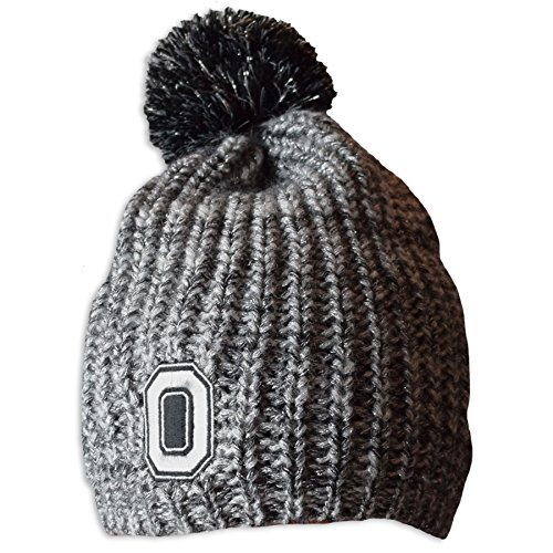 NCAA Ohio State Buckeyes Women's Sweet & Sassy Uncuff Knit Pom Beanie, One Size, Charcoal