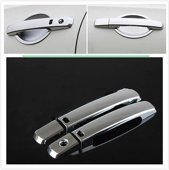 Color : 1 Keyhole 1 Button XINGFUQY Ajuste for Nissan Pathfinder R51 2005-2012 manija de Puerta del Cromo del Coche Nueva Ajuste de la Cubierta engomada del Coche Que Labra los Accesorios