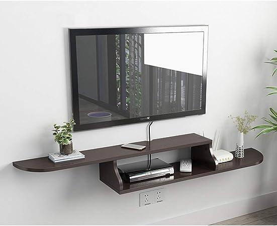 Consola de TV flotante Mueble de TV montado en la pared Consola de medios Soporte de