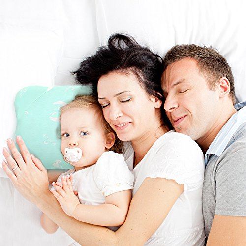 Toddler Pillow for Sleeping, Small Nap Pillow for Kids Travel Size 15'' x 10'' (Green) by Restcloud (Image #3)