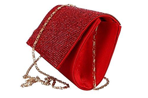 Geldbeutel frau ROMEO GIGLI pochette rot Zeremonie mit strass VN1331