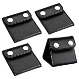 PAMASE 4 Pcs Car Seat Belt Clips Adjusters for Adults and Kids, PU Leather Seatbelt Locking Clips Comfort Universal Auto Shoulder Neck Strap Positioner, Vehicle Seat Belt Covers