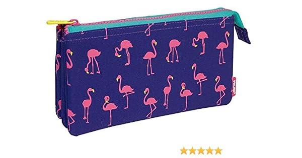 Portatodo Milan Flamingos con 5 Compartimentos: Amazon.es: Oficina y papelería