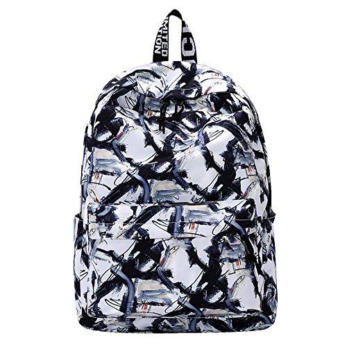 Black White Backpack