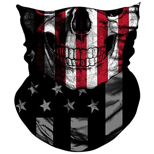 Good Halloween Music For A Party (AXBXCX 3D Skull Skeleton Neck Gaiter Face Mask for Motorbike Motorcycle Cycling Riding Hiking Hunting Fishing Skateboard Powersports Halloween Party Music Festivals Raves Face Mask)