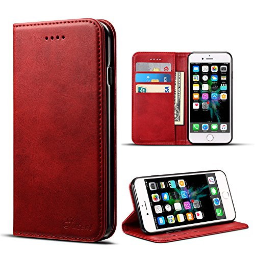 DRUnKQUEEn iPhone 6 Plus Case, iPhone 6S Plus Case, Premium Leather Wallet with Card Holder for Men/Women's Back Cell Phone Shell Skin Magnetic Flap Cover for Apple iPhone 6Plus 6SPlus