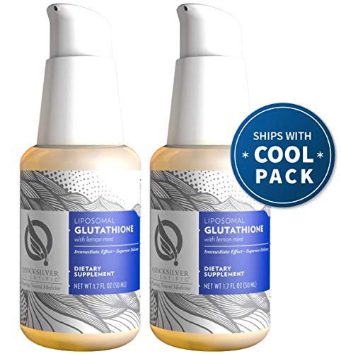 Quicksilver Scientific Liposomal Glutathione - 'The Master Antioxidant' Liquid Supplement with Nano Technology for Superior Absorption