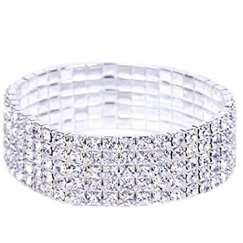 Row Crystal Rhinestone Bracelets - 9