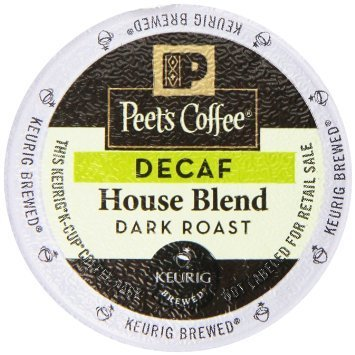 Peet's Coffee K-Cup Decaf Edifice Blend, 10 Count (Pack of 6)