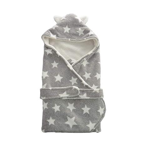Otoño invierno Cálido Baby Swaddle Wrap impresión manta - Recién nacido Suave saco de dormir para