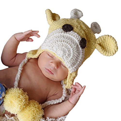 Trimmed Safari Hat (Huggalugs Baby and Toddler Giraffe Beanie Hat)
