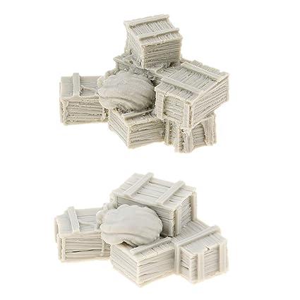 2X 1/35 Figura De Resina Cajas Y Bolsas De Resina Modelo De ...
