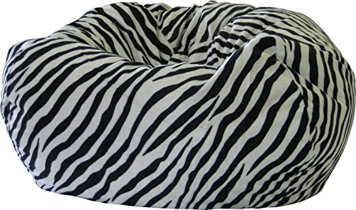 Gold Medal Bean Bags Safari Micro-Fiber Suede Bean Bag, X-Large, Zebra (Gold Safari Zebra)