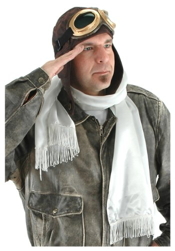 Aviator Costumes Scarf - elope Aviator Costume Kit, Brown, One