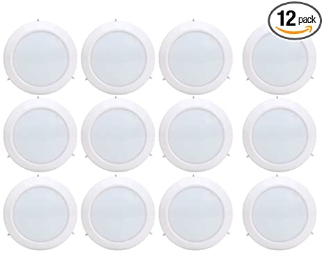 Viribright 75 Watt Replacement 6 Inch LED Disk Mount Ceiling Fixture, (12 Pack), Cool White 4000K, 1000 Lumens, 90+ CRI, Downlight - - Amazon.com