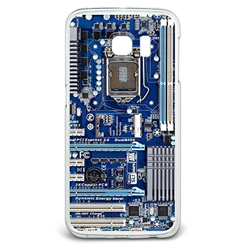 Blue Computer Motherboard - Processor CPU Memory Snap On Hard Protective Case for Samsung Galaxy S6 Edge