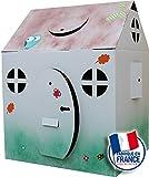 Maison en carton geante à colorier- Les Cabanes d'Evan