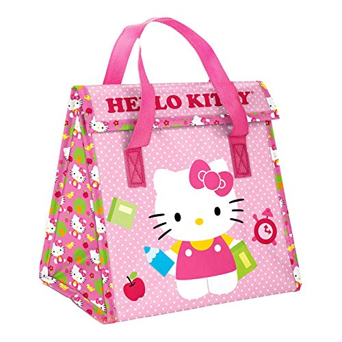 (Zak! Designs Insulated Lunch Bag with Closure featuring Hello Kitty,)