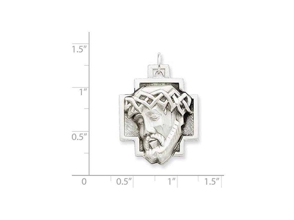 Finejewelers Sterling Silver Ecce Homo Medal Pendant Necklace Chain Included