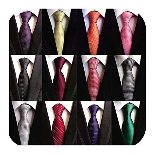 (Weishang Lot 12 PCS Classic Men's Tie Necktie Woven JACQUARD Neck Ties(Style 7))
