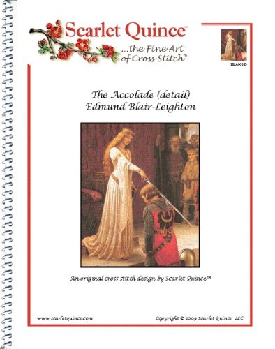 Scarlet Quince BLA001-D The Accolade by Edmund Blair-Leighton Counted Cross Stitch Chart Regular Size Symbols detail