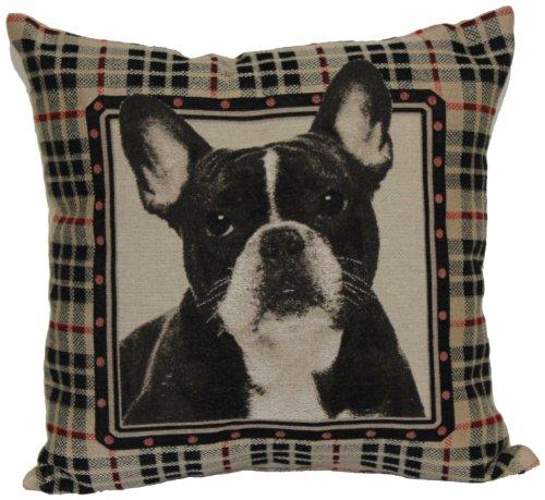 Bulldog Toss Pillow - Brentwood 8238 French Bull Dog Tapestry, 18