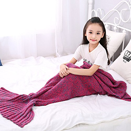 EagleUS Knitted Mermaid Blanket Children