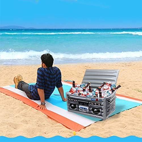 CLISPEED Aufblasbarer Kühler Pool Getränkehalter Dekorative Eiskübel Tropischen Pool Spielzeug für Picknick Strandreise Trip Schwimmen