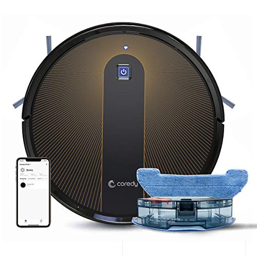 Coredy R750 Robot Vacuum Cleaner, Compatible with Alexa, Mopping System, Boost Intellect, Virtual Boundary Supported… 1