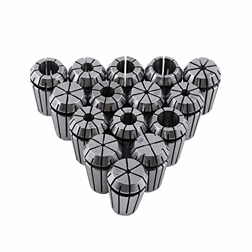 ZJchao 15pcs ER20 Spring Collet Set for CNC Engraving Machine and Milling Lathe Tool 1-13mm