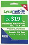 Lycamobile $19 Plan Prepaid Sim Cards Include 2 Month Free Service